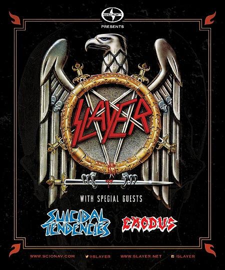 Slayer, Suicidal Tendencies, Exodus flyer