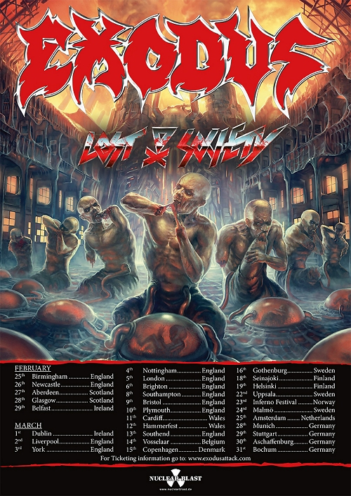 Exodus Lost Society European Tour 2016