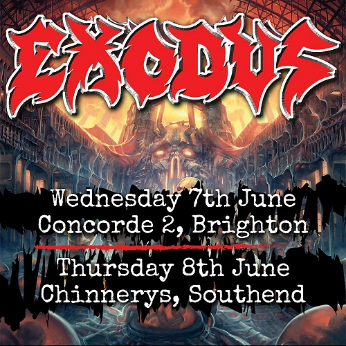 Exodus June 2017 U.K. Dates