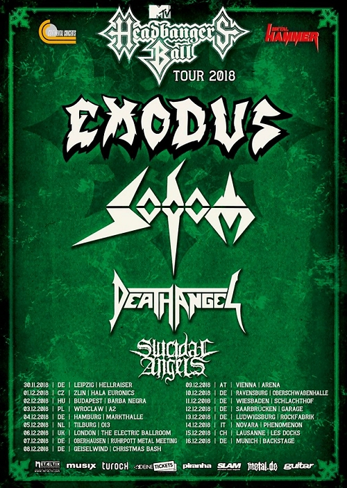 Headbangers Ball Tour 2018
